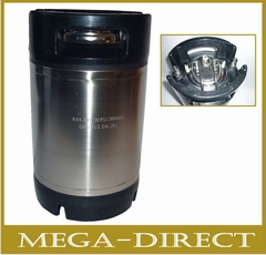 Soda-keg  2,5 Gallon - 9,45 liter Ball Lock Cornelius type