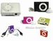 Mini Metal Clip MP3 Player 4 in 1 For 1G 2G 4G 8G TF Card